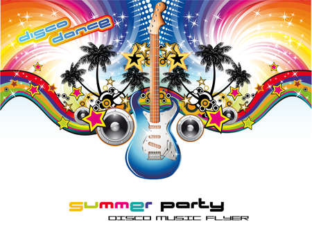 Disco Dance Corful Tropical Music Event Flyer Stock Vector - 5523764