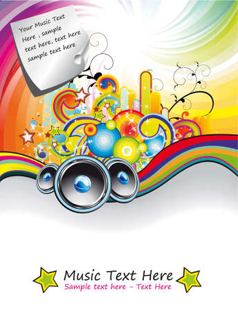 Colorful Rainbow Musical Event Background for Flyers Stock Vector - 5523737