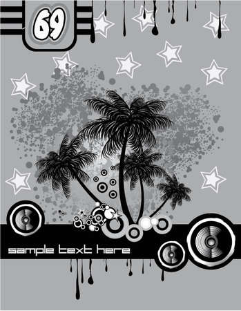 Music and Dance tropical Disco Event Stock Vector - 5523763