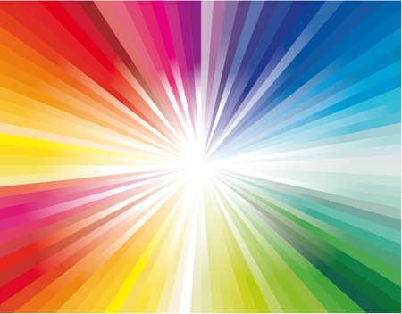 Abstract Colorful Rainbow Explosion of ray lights