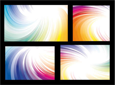 Delicate Set of Rainbow Colorful Background Stock Vector - 5523710
