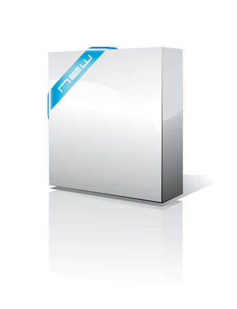 customized: 3D Software Box View Illustration