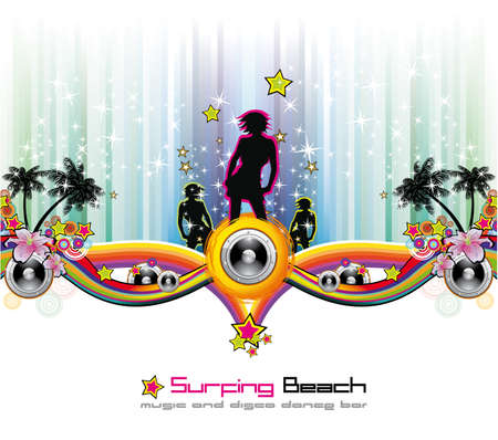 Dance and Music tropical Event Background for Disco Flyers Vector