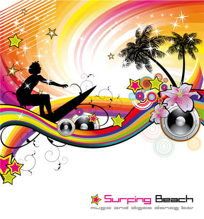 Dance and Music tropical Event Background for Disco Flyers Stock Vector - 5523730