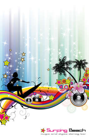 Dance and Music tropical Event Background for Disco Flyers Stock Vector - 5523743