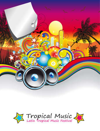 Colorful Rainbow Musical Event Background for Flyers Vector