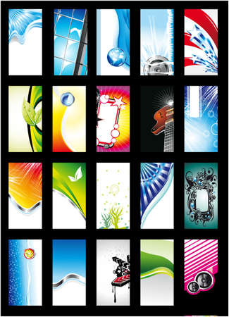 Colorful Abstract, Business, Music and Fantasy Background Card Collection - Set 1 Stock Vector - 5855286