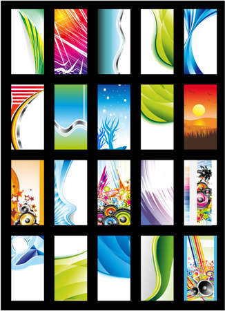 Colorful Abstract, Business, Music and Fantasy Background Card Collection - Set 2 Stock Vector - 5855338
