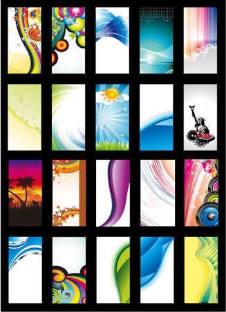 Colorful Abstract, Business, Music and Fantasy Background Card Collection - Set 3 Stock Vector - 5855339