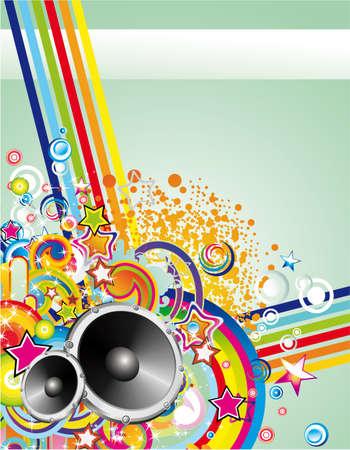 Danza y fondo de eventos de música para póster o volantes