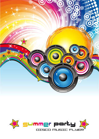 colorful Abstract Disco Dancing Background for Flyers Stock Vector - 5855260