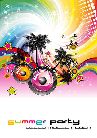 discoteque: Abstract Tropical Discoteque Event Background for Flyers