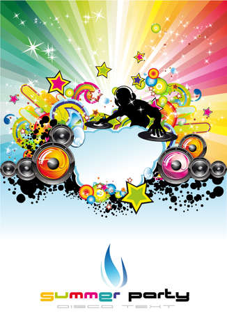 Musical Event Flyer With Colorful Abstract Elements  Vector
