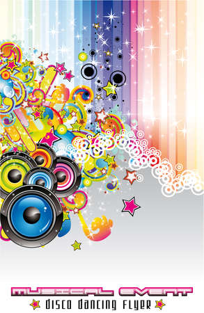 colorful Abstract Disco Dancing Background for Flyers Stock Vector - 5855250