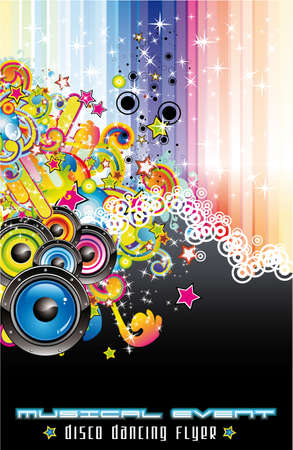 Dance and Music Event Background for poster or flyers Vector