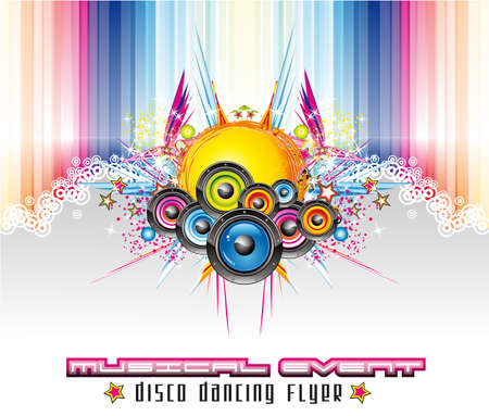 Dance and Music Event Background for poster or flyers Stock Vector - 5855277