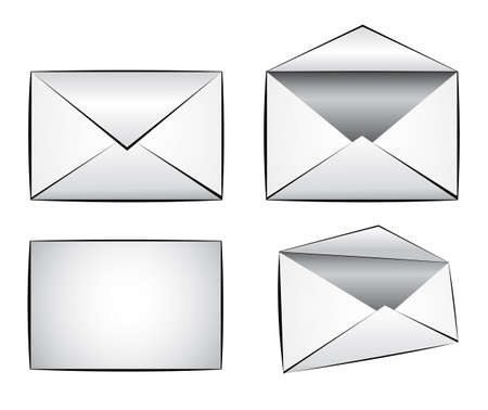 Set of Email Illustration Icons Vector