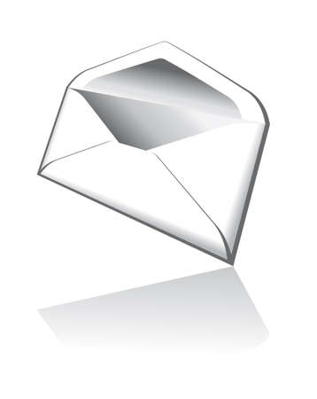 moving site: Threedimentional Email Icon with Reflection
