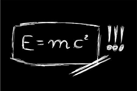 mc2: Hand Made Sketch of the Theory Of Relativity     Illustration