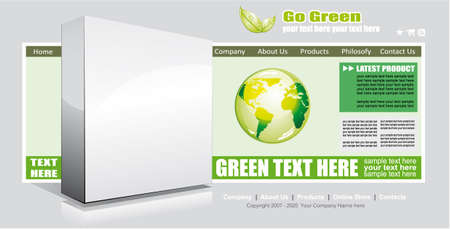 Colorful Web Site Environmental Green Template with delicate colors Vector