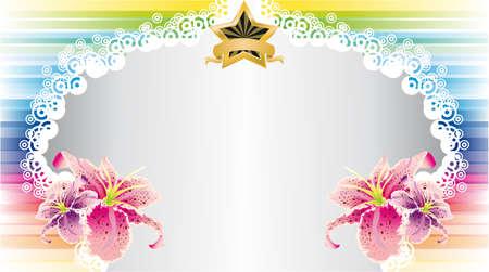 new yea: Colorido arco iris flores tarjeta con espacio para texto