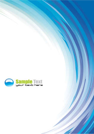 page design: Colorful Abstract Background for Brochure or Business Flyers