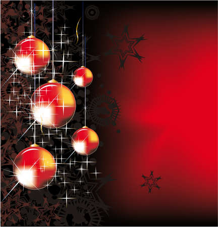 twirling: Chrstmas Balls Background for Greeting Cards