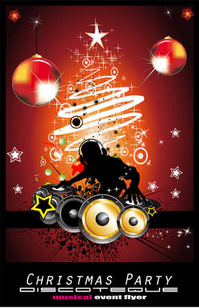 hip hop dancing: Abstract Dj Discoteque Event Background for Flyers Illustration