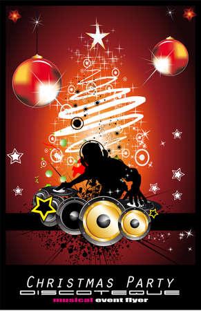 party dj: R�sum� historique de �v�nements de Dj Discoteque pour Flyers Illustration