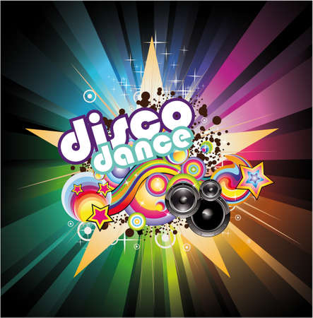 hip hop dancing: Abstract Magic Colorful Disco Music Background