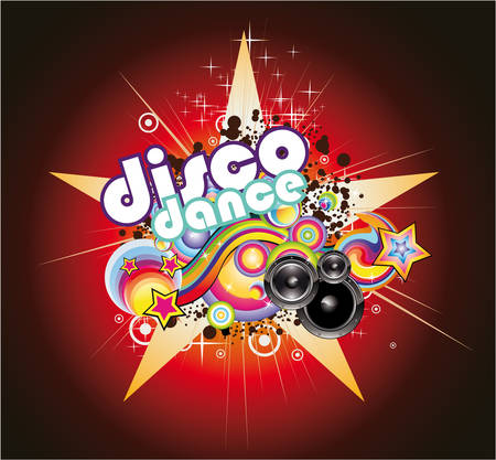 Abstract Magic Colorful Disco Music Background Vector