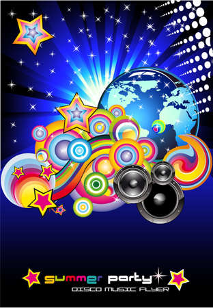 Abstract Discotheque Colorful Background for Flyers Stock Vector - 6125622