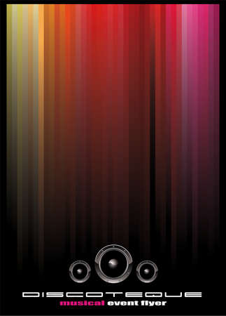 Abstract Elegant Disco Music Event Background Stock Vector - 6125620
