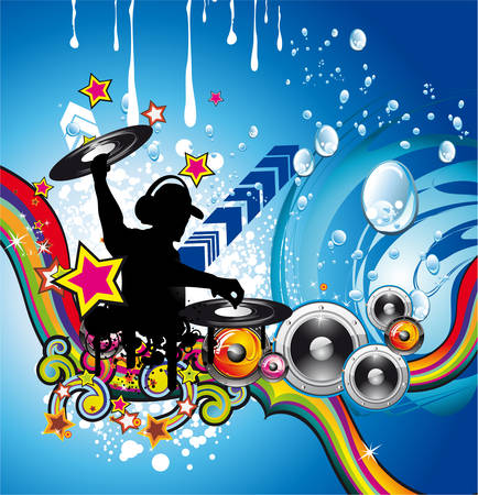 Abstract Water Discoteque Colorful Background Vector