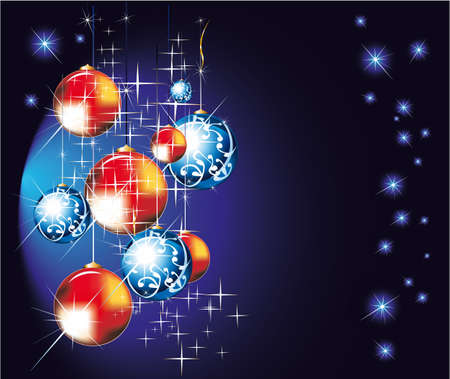 chrstmas: Chrstmas Balls Background for Greeting Cards
