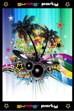 party club: Abstract Discotheque Colorful Background for Flyers