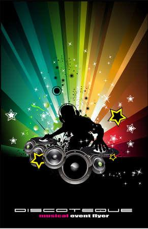 party dj: Fondo de eventos de DJ Discoteque abstracta para volantes