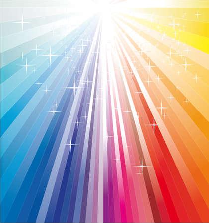 Rainbow Magic Christmas Ray Lights Vector