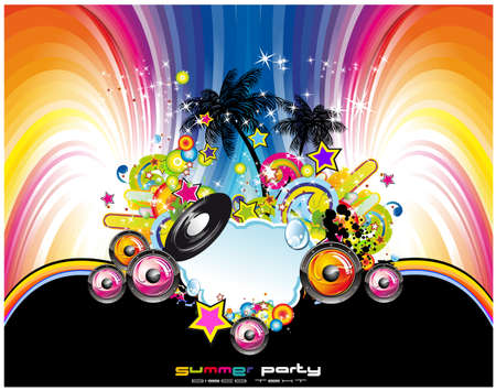 disk jockey: Musica latina e tropicale evento sfondo per volantini o poster
