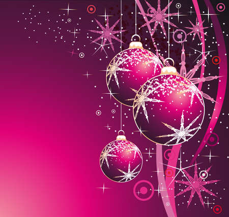 Christmas Ball Elegant Colorful Background Vector