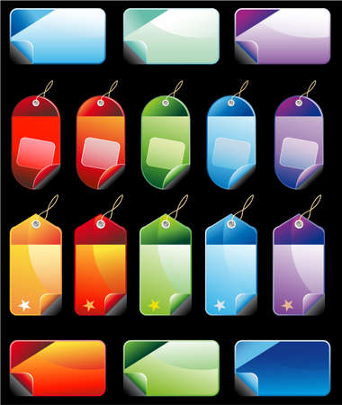 Collection of Christmas Colorful Promotional sales price labels Stock Vector - 6125643