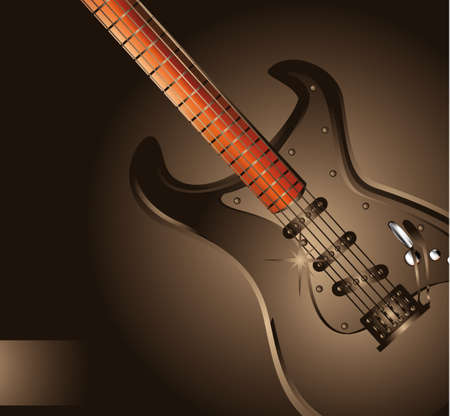 bass guitar: Colorful Art of Rock Background
