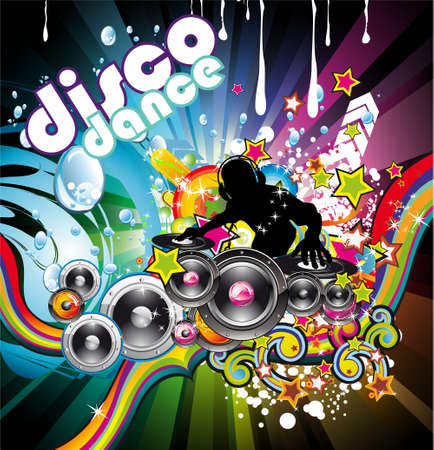 Abstract Water Discoteque Colorful Background Stock Vector - 6125679