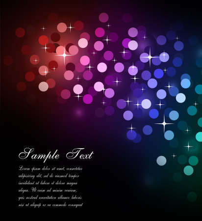 Elegant Colorful Glitter Abstrat Lights for Flyers Background  Stock Photo - 6169040