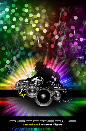 Abstract Urban Discoteque Event Background for Flyers Stock Photo - 6169053