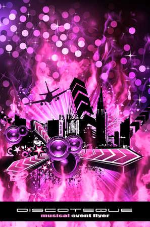 Urban Dirty Grunge Style Disco Flyer Background Stock Photo - 6169039
