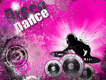 flyer musique: Style techno grunge DJ Disco Flyer arri�re-plan