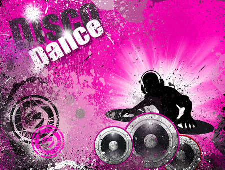 party flyer: Techno Grunge style DJ Disco Flyer Background