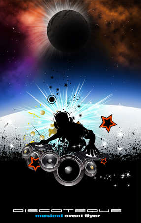 musical event: Abstract Music Event Background with Dj Shape  Stock Photo