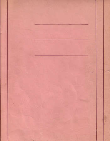 cartas antiguas: Notas de papel con fondo colorida analizan desde la fuente original de antigua oficina Foto de archivo